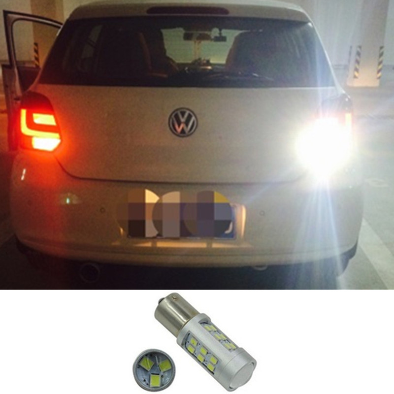 White P21W BA15s 1156 LED Canbus Backup Reversing Light For VOLKSWAGEN Passat B1 B2 B3 B4 B5 B6 VW Reverse Lamp 1PCS wljh 2x canbus 20w 1156 ba15s p21w led bulb 4014smd car backup reverse light lamp for bmw 228i 320i 328d 328i 335i m3 x1 x4 2015