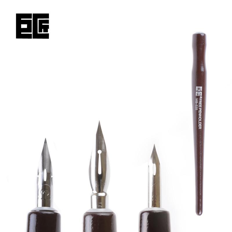 все цены на LifeMaster Japan Tachikawa Dip Pen Set (3 nibs(G/D/Maru pen nib)+1 wood handle) for Manga/Cartoon Design Art Set онлайн