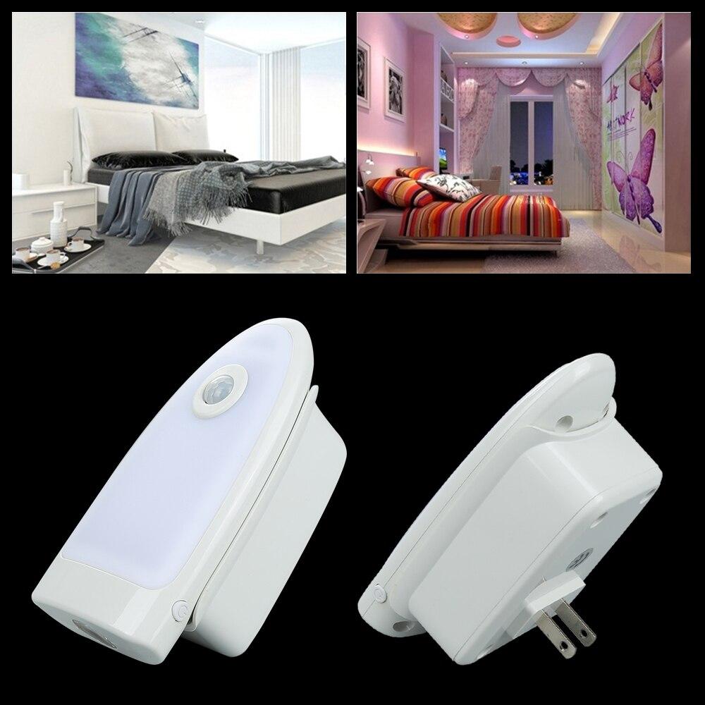 LED PIR Motion Sensor Night Light Infrared Induction Lamp US/EU Plug Wireless Charging Wall Light For Bedroom Hallway Cabinet jl 020 us plug e27 led pir motion sensor lamp holder white ac 180 240v