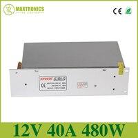 12V 40A 480W Universal Regulated Switching Power Supply,AC110/240V for CCTV PSU Lighting Transformers