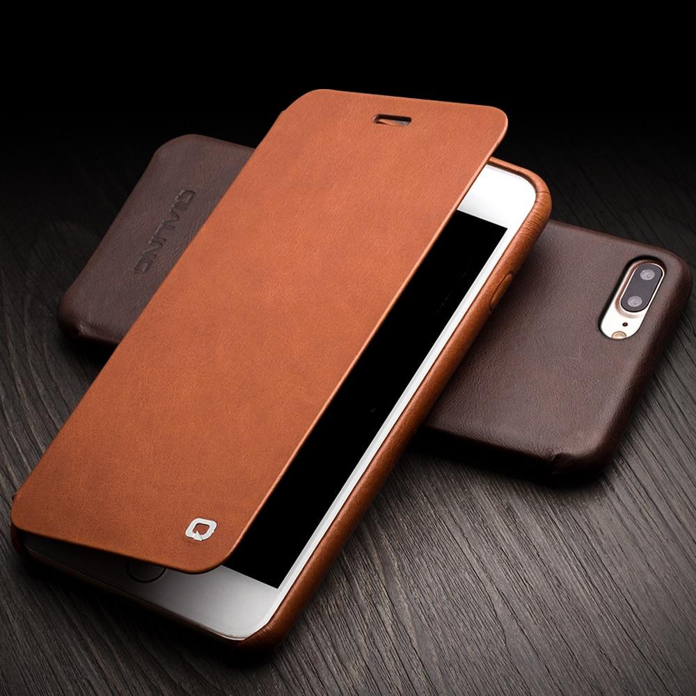 QIALINO Funda para iPhone 7 4.7 Funda de cuero con tapa abatible de - Accesorios y repuestos para celulares - foto 3