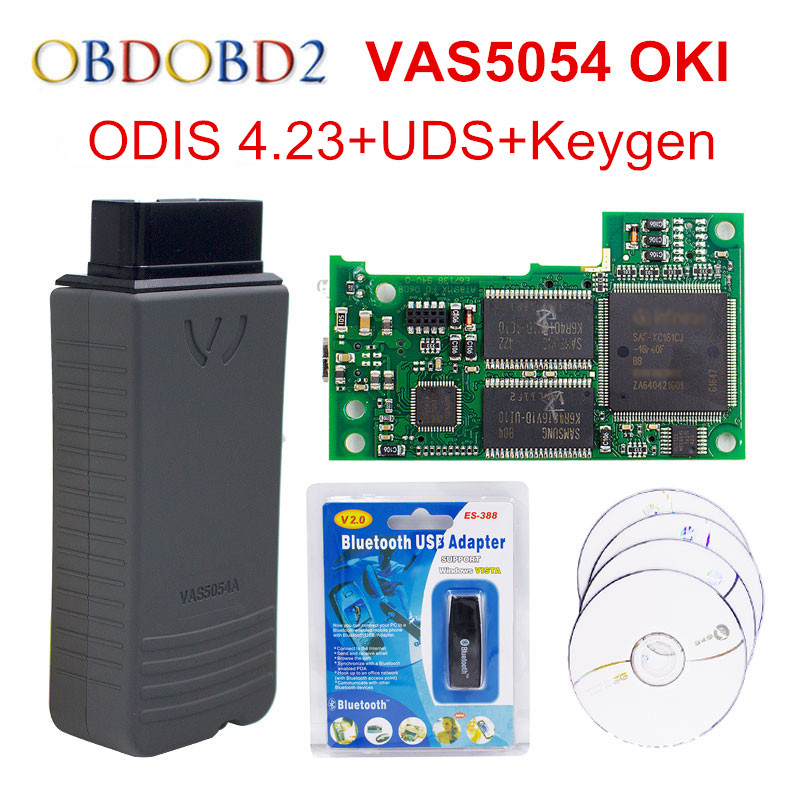 OKI Full Chip VAS 5054A VAS5054A ODIS V4.23 With UDS Protocol VAS5054 Keygen V4.2.3 Multi-Languages VAS 5054 Free Ship
