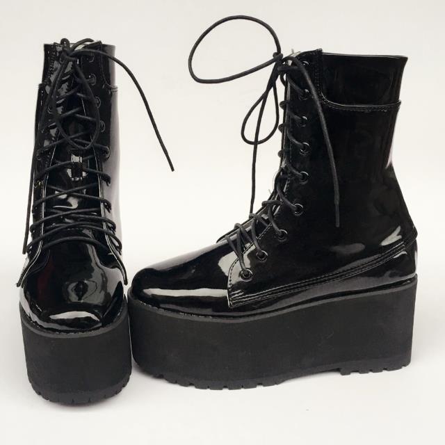 Симпатичные панковские туфли в стиле принцессы; летние модные ботинки на рифленой подошве в европейском и американском стиле; практичная о