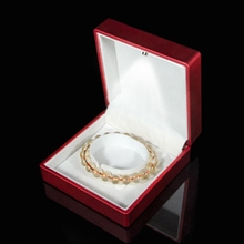 LED Light Bracelets Necklace Pendant Ring Jewelry Box