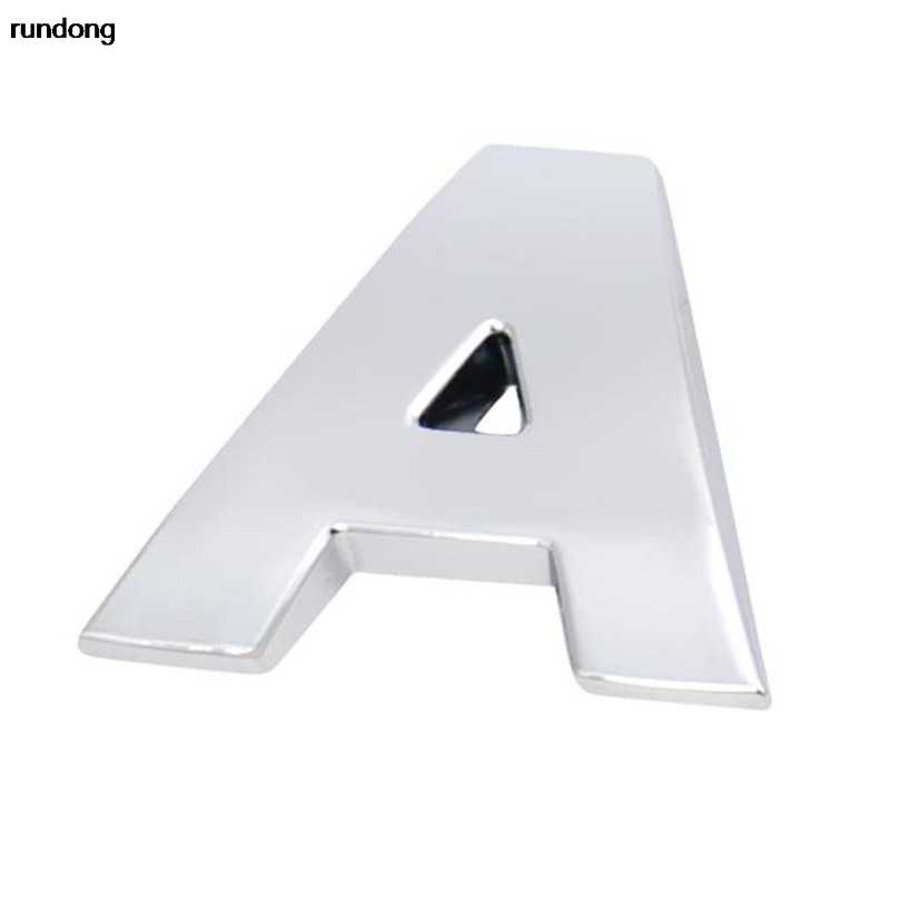 (A--M) 1 Pc 3D Diy Metallic Sticker Auto Emblem Badge Decal 3d Auto Letters
