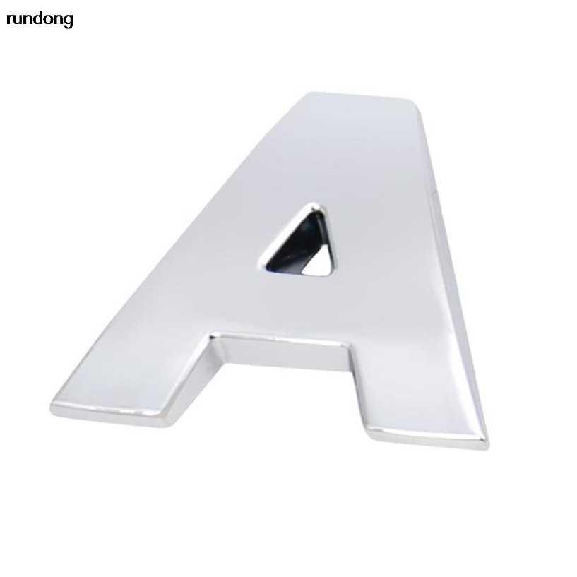(A--M) 1 PC 3D DIY Metalik Stiker Mobil Emblem Lencana Decal 3D Mobil Huruf