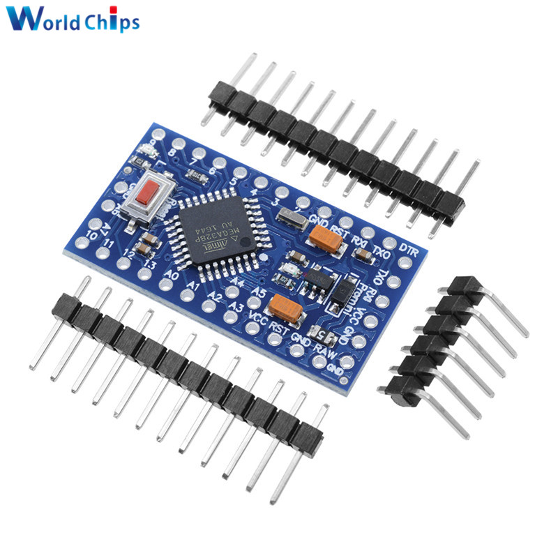 Pro Mini Atmega328 Atmega328P Module 3.3V 5V 8MHZ 16M 16MHZ Pro Mini  For Arduino Compatible Nano Serial Board Replace ATmega128
