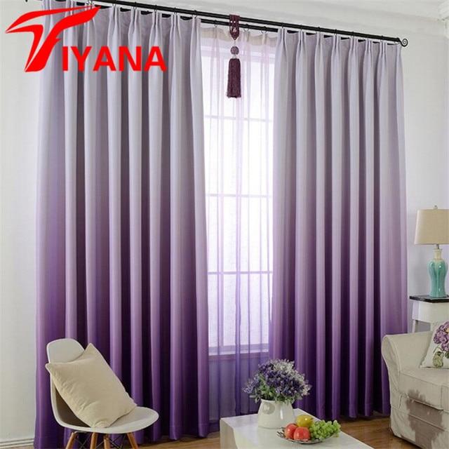 Tiyana Lila Gradienten Blackout Vorhänge für Wohnzimmer Moderne ...