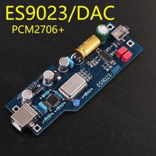 Звуковая карта PCM2706 ES9023 DAC звукового декодера с уровнем жара, готовый продукт с OTG