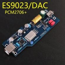 PCM2706 ES9023 niveau de fièvre audio DAC décodeur de carte son produit fini avec OTG