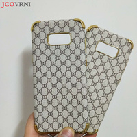 JCOVRNI 2017 Latest Luxury Fashion Plaid For Samsung S8 S8 Plus Plated Gold Plated Soft Shell