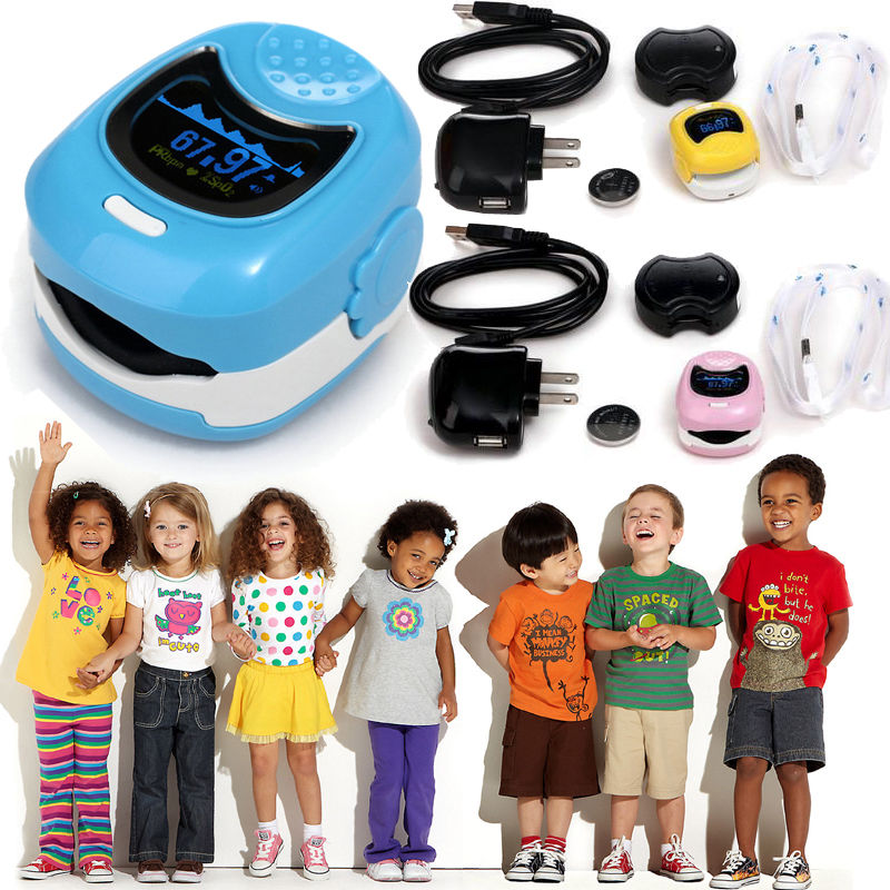 все цены на CONTEC Finger Cute Pulse Oximeter Oxygen SPO2 Monitor for Children Kids CMS50QB онлайн