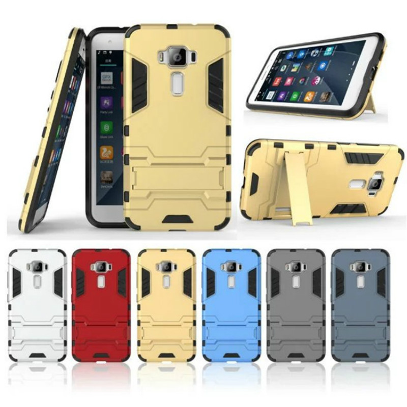 ny POP-brakett Rugged Kickstand Armor Case for Asus Z017D Zenfone 3 ZE520KL Hard Shock Proof Cover Tilbehør Funda