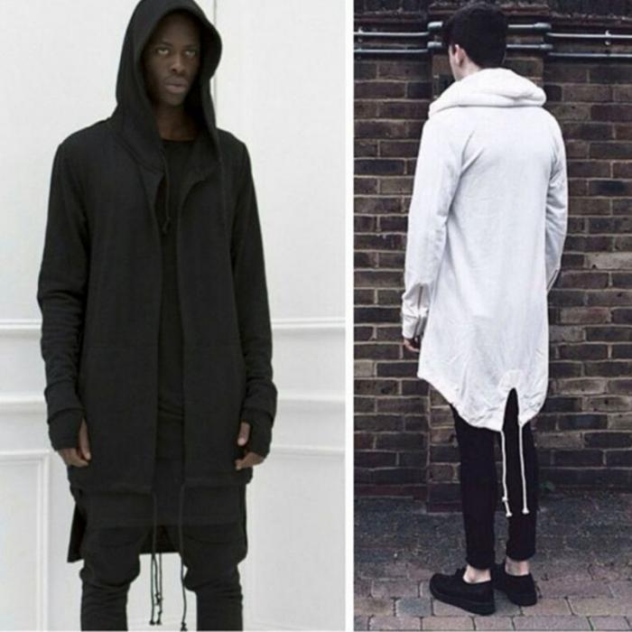 HTB1diFTdEGF3KVjSZFmq6zqPXXaU Newly Men Hooded Gown Hip Hop Mantle Coat Hoodies Loose Sweatshirts Long Sleeves Cloak Autumn Winter Outwear DOD886