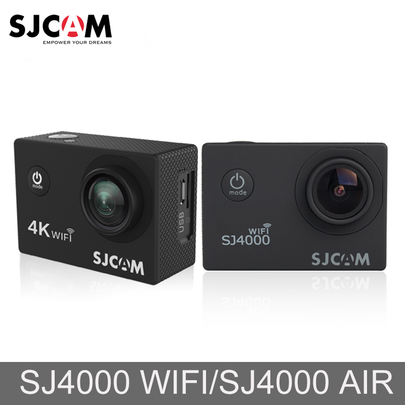 Оригинальный SJCAM SJ4000 AIR SJ4000 Wi-Fi 2 ''Экран открытый видео камерой 4 К Full HD 30 м Водонепроницаемый Спорт действий Камера автомобиль Mini DVR