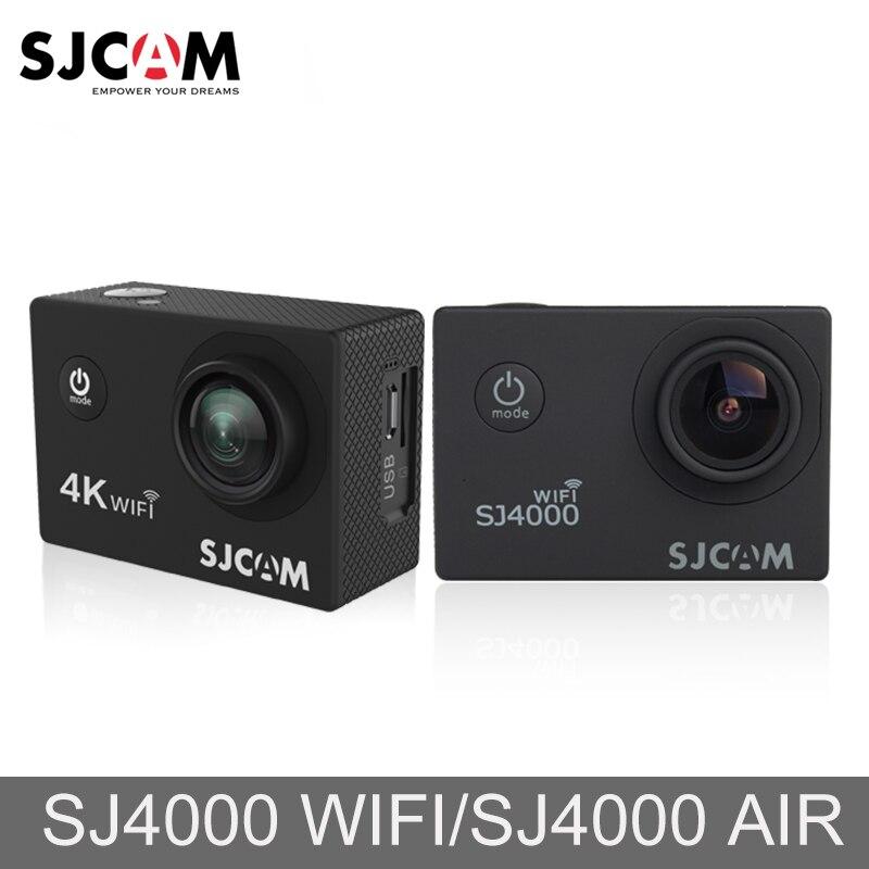 D'origine SJCAM SJ4000 AIR SJ4000 WiFi 2 ''Écran En Plein AIR Vidéo Cam 4 k Full HD 30 m Étanche Sport d'action Caméra De Voiture Mini DVR