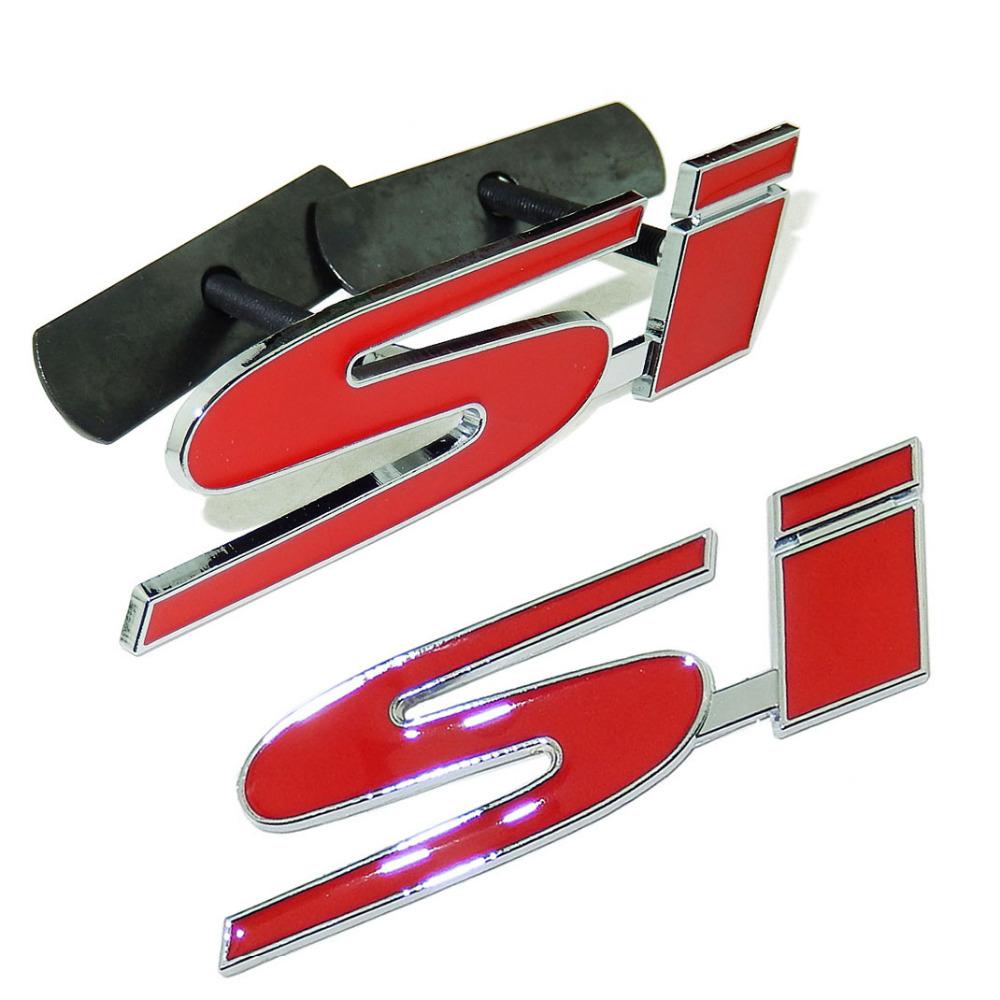 Logo honda rouge - 3d Car Styling Si Badge Autocollant Embl Me Calandre Pour Honda Civic Accord Automobile Accessoires Logo Livraison