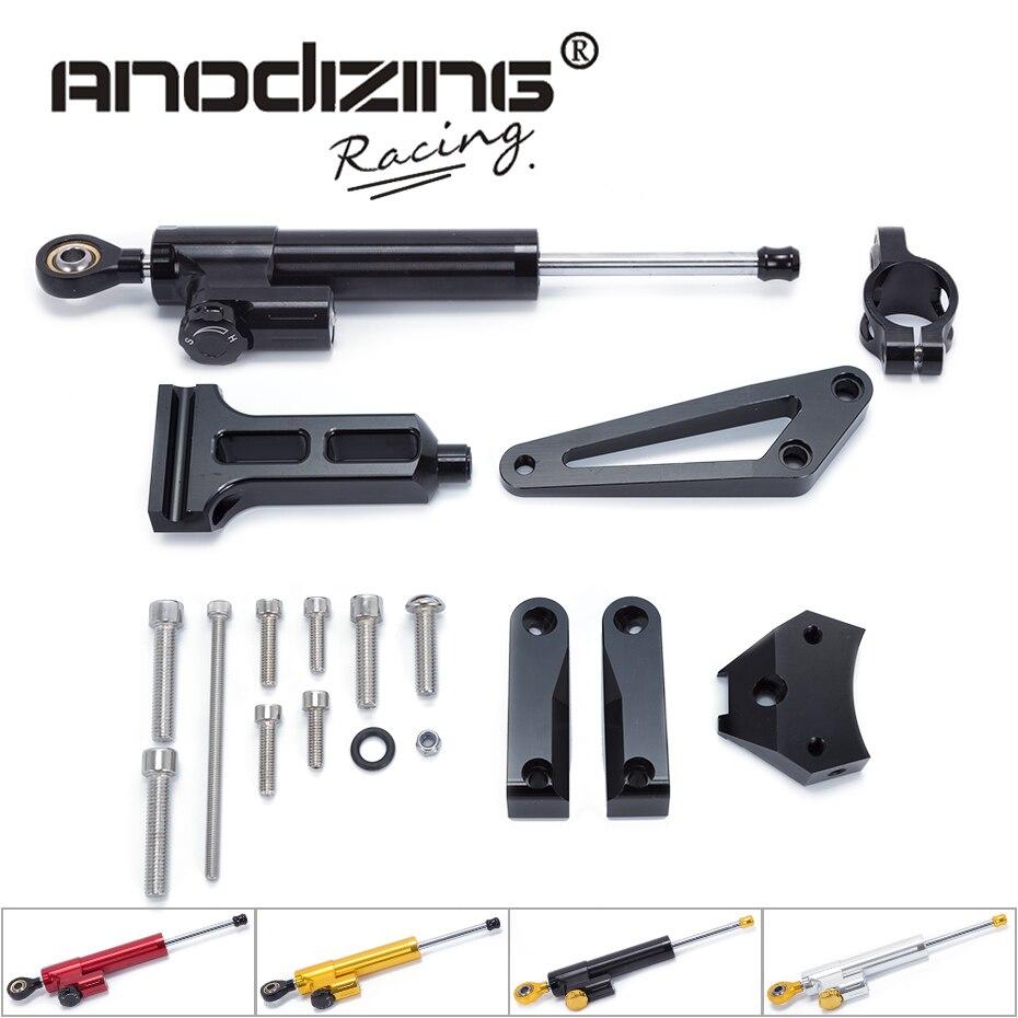 Pour HONDA CB1300 CB 1300 2003-2011 Kit de support d'amortisseur de stabilisateur de direction en Aluminium pour moto
