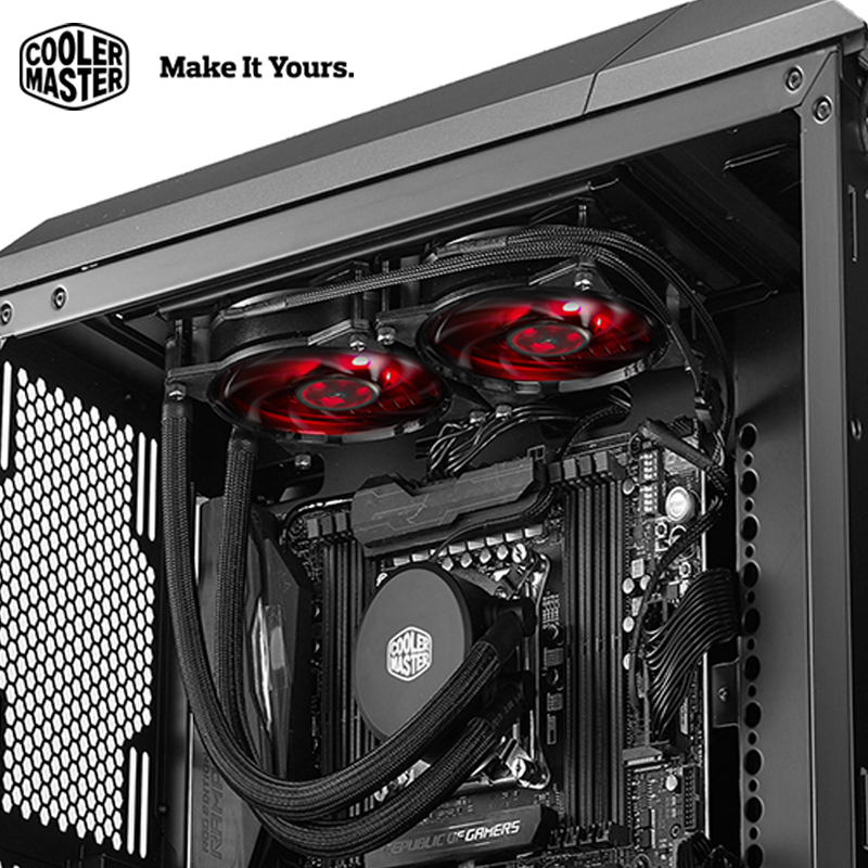 Cooler Master B120/B240 CPU Liquid Cooler 120mm Red LED quiet fan For Intel 1151 1150 2011 2066 and AMD AM4 CPU water cooler цена и фото