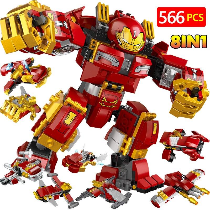 Blocs de construction Marvel Infinity War Avengers avec amour Super héros Hulkbuster Ultron Iron Man édition briques jouets pour enfants