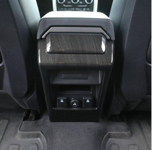 Pour Land Rover découverte accessoires de voiture de Sport ABS bois Chrome siège arrière climatisation ventilation cadre couverture garniture autocollant 2015 +