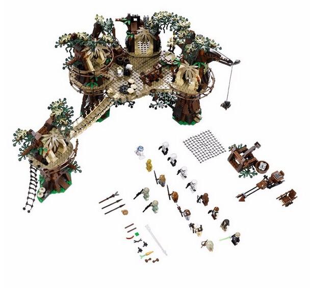 In stock New Lepin 05047 Star Wars Ewok Village Building Blocks Juguete para Construir Bricks Toys