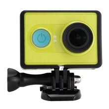 Топ предложения защитный корпус боковая рамка чехол для Xiaomi Yi Xiaoyi экшн Спортивная камера аксессуары черный