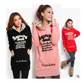 New 2016 11 11 Women's  Winter  Honey  Plus Size  Clothing  With A  Hood  Loose  Pullover Medium-long  Sweatshirt