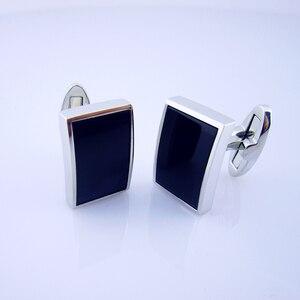 Image 5 - KFLK bijoux chemise mode boutons de manchette pour hommes marque bouton de manchette bouton noir haute qualité luxe mariage marié invités