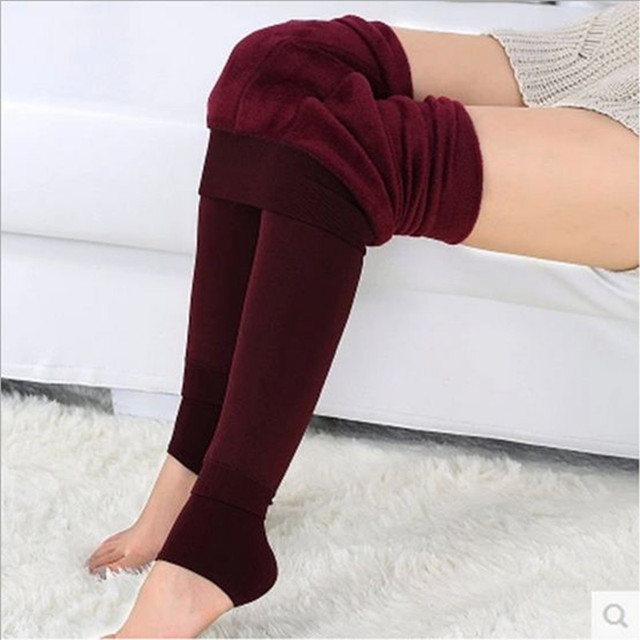 Women Leggings Velvet Cashmere Thickened Elastic Warm Legging High Waist Autumn And Winter Casual Pants winter Trousers