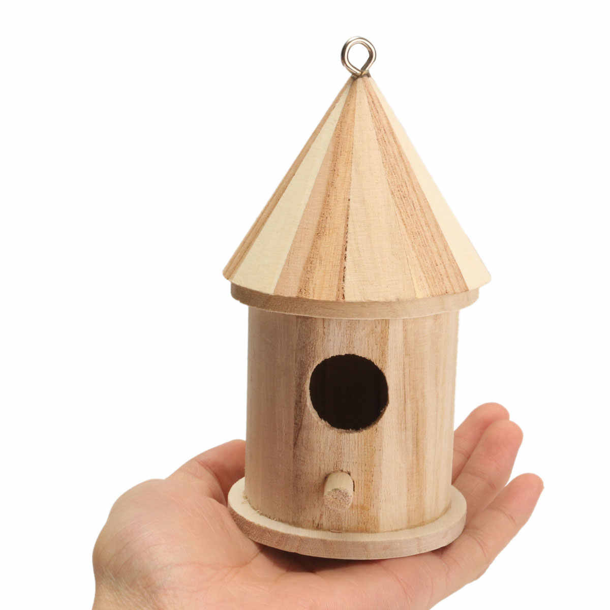 ... Bird House Nest Wooden DIY Birdhouse Hanging Nesting Box Craft For Home Garden Decoration Holiday Gift ...