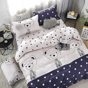 Cartoon Bear Printing Kawaii Bedding Set Bedding Sets