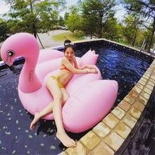 Гигантский Фламинго поплавок женщин надувные фламинго бассейн поплавок лебедь надувные плавать кольцо бассейн поплавок плот игрушки воды