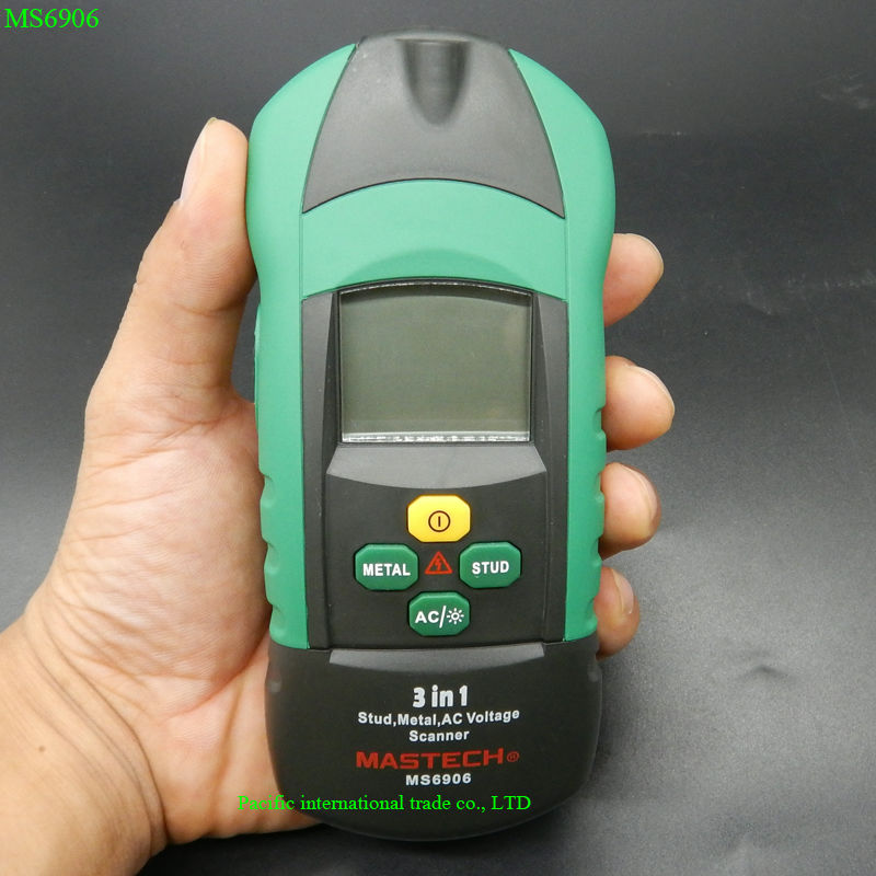 3 in 1 Multi-function Stud Metal AC Voltage Scanner Detector Tester Thickness Gauge w/ NCV Test MASTECH MS6906 Wall Scanner new smb female jack right angle connector switch fakra convertor rg316 wholesale fast ship 15cm 6 adapter