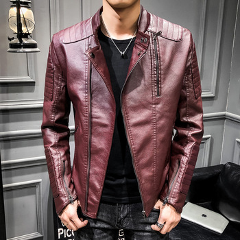 2019 New Good Quality Fashion Jacket Leather Motorcycle