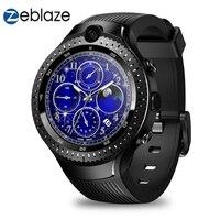 Zeblaze Тор 4 двойной г LTE Смарт часы телефон для мужчин SIM Android 7.1.1 Wi Fi видеовызов 5,0 + Мп двойной камера gps Smartwatch