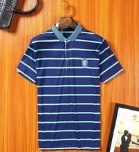 2017 Мужская Полоса Polo Shirts 2016 Polo Homme Бренд Мужской Polo рубашка С Длинным Рукавом Slim Fit Рубашка Мужчин Хлопка Случайные Футболки плюс размер(China (Mainland))