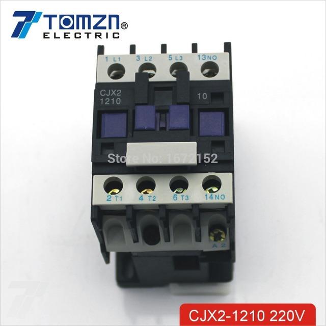 CJX2 1210 AC contactor LC1 12A 220V 50HZ/60HZ