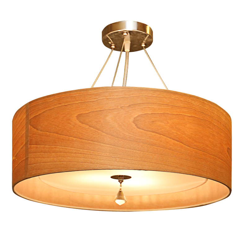 Nordic solid wood round pendant light ornaments restaurants bedroom living room bar clothing store pendant lamps ZA цена