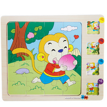 Multilayer 3D Puzzles Wooden Toy Jigsaw Puzzle Animal Stories Early Educational Childhood Intelligence Kids Toys for Children