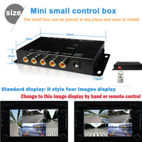 IR Control Car Multiple Cameras Image Switch Control Box Front Rear Left Right View Parking System