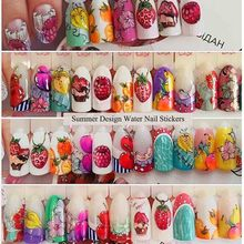 High Quality Full Beauty 18pcs Cake Ice Cream Nail Sticker Mixed Colorful Designs Women Makeup Art Decals