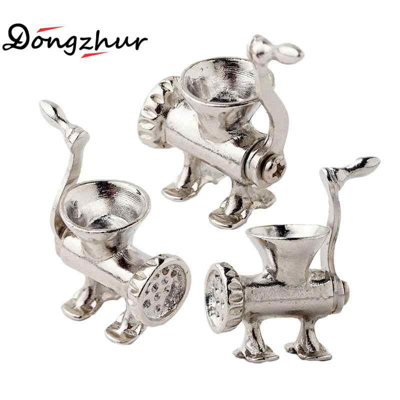 Miniature Dollhouse Accessories Mini Meat Grinder Chopper Simulation Kitchen Food Processor Model Toy For Deco 1:12 Dollhouse