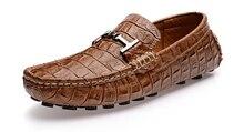 НОВЫЙ EUR 38-44 Кожа SLIP-ON БИЗНЕС Мокасины мужские Пряжка вождения автомобиля обувь мокасины