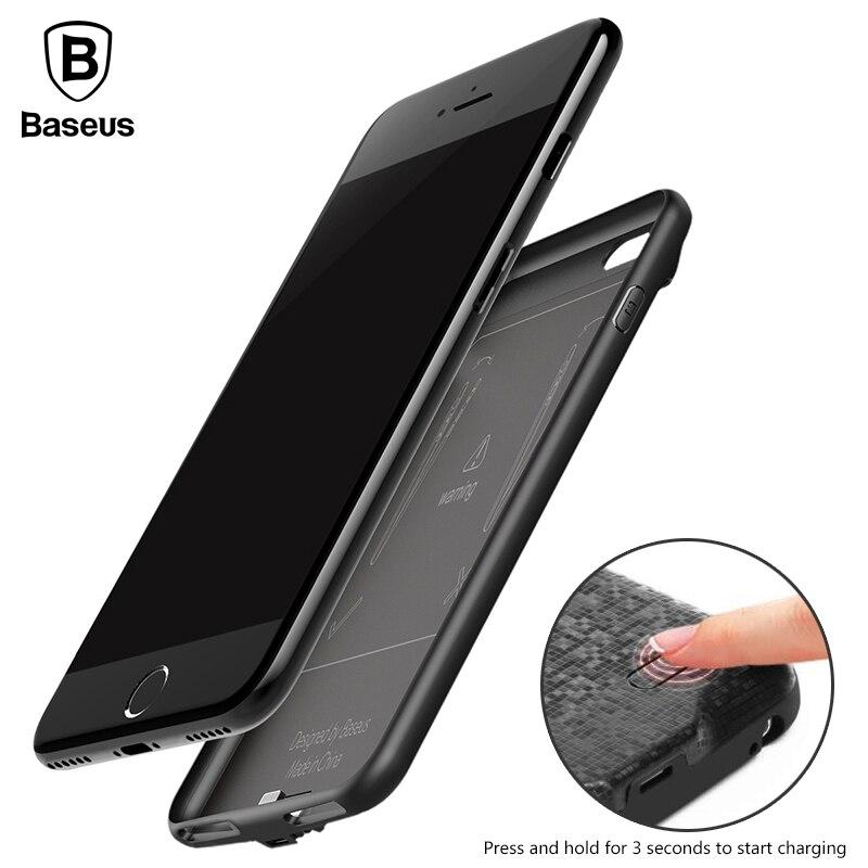 De baseus caso del cargador de batería para iphone 6 7 2500 mah 3650 mah banco d