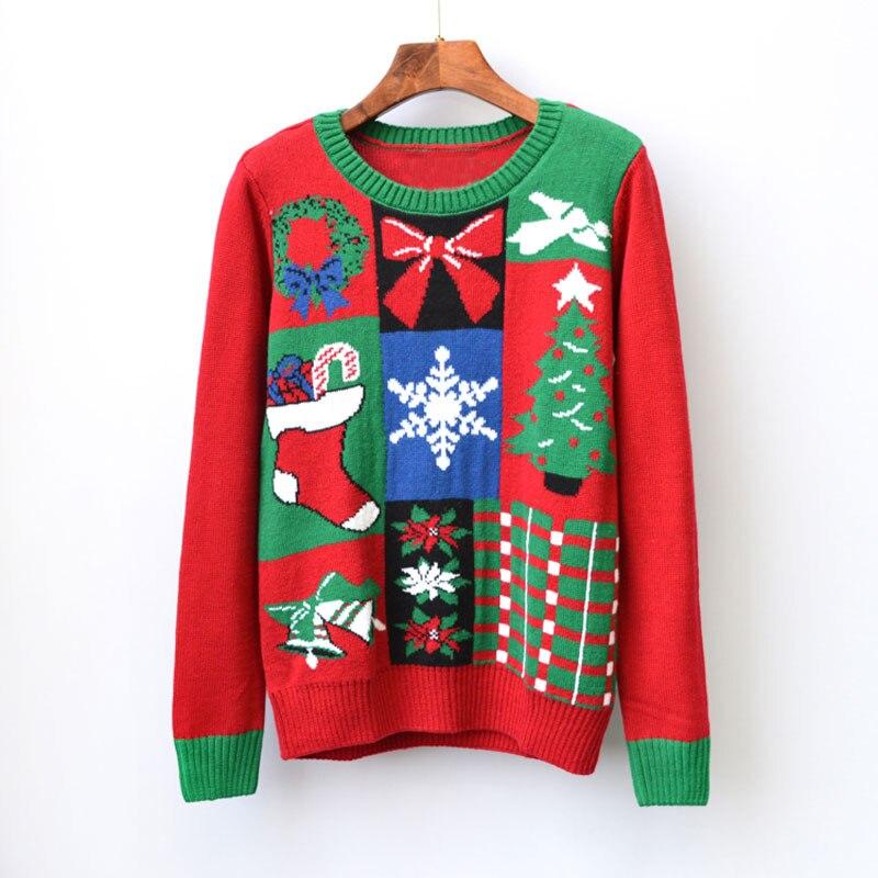 Christmas Tree Sweater Womens: Funny Ugly Christmas Sweaters Women Print Gift Socks