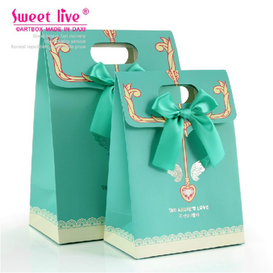 10 Pcs Tiffany Blue Wedding Favor Gift Bag Baby Shower Favor Gift