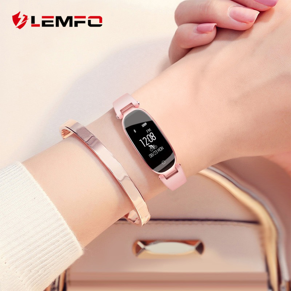 LEMFO S3 Smart Watch mujeres pulseras pulsera Fitness Monitor de ritmo cardíaco IP68 Bluetooth impermeable para IOS Android