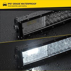 Image 4 - LED Bar for UAZ 4x4 offroad 22 32 42 inch LED Light Bar 324w 459w 594w Spotlight LED Beam 12V 24V fog headlights LED Work light