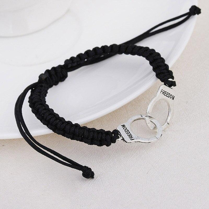 Adjustable Vintage Handmade Bracelet Men Jewelry Handcuffs Charm Bracelet for Women Accessories Friendship Girl Couple Bracelets 9